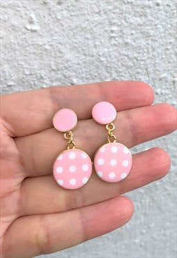Handmade spotty earring