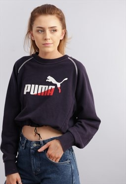 Vintage Puma Reworked Cropped Sweatshirt Z1010