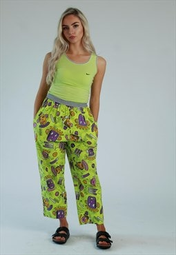 90s Crazy pattern festival beach pants