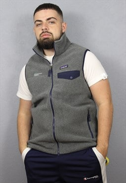 Patagonia Synchilla Vest Fleece Gilet Gray