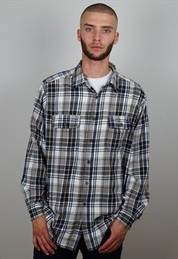 Vintage 90s Check Flannel Shirt
