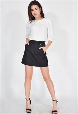 PRADA Black Vintage Mini Skirt Casual
