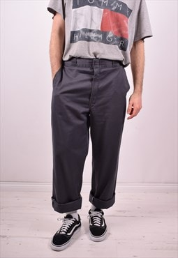 Dickies Mens Vintage Trousers W34 L34 Grey 90s