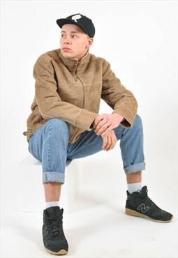 Vintage faux shearling sherpa faux suede jacket