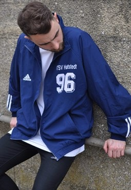 Vintage 90's adidas football windbreaker track jacket