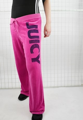 ICONIC NOUGHTIES JUICY COUTURE VELOUR WIDE LEG TRACK PANTS