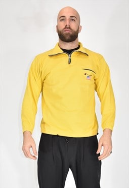 CHAMPION sporty yellow cotton sweatshirt
