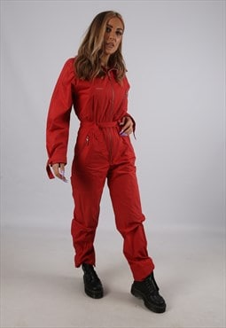 Vintage Boiler Suit Boilersuit Overalls Jumpsuit UK 8  (B6E)