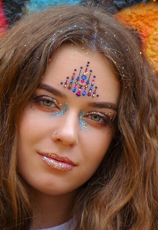 PYRAMID -PINK/BLUE ONE PIECE FESTIVAL FACE GEM
