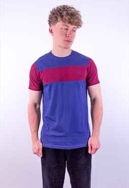 Vintage Fred Perry T-Shirt in Red & Blue