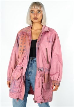 Vintage Pattern Parka Jacket in Multicolour