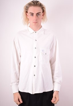 Replay Mens Vintage Shirt Small White 90s