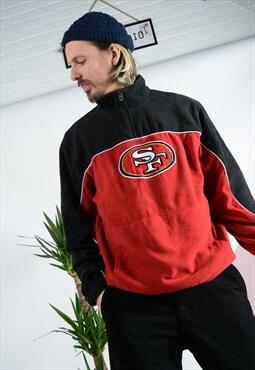 Vintage NFL 1/4 zip fleece in red.