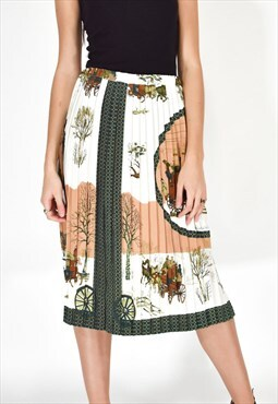 HERMES PARIS Multicolored Long Skirt