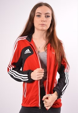 Vintage Adidas Tracksuit Top Jacket Red