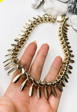 1960's Spike Statement Necklace
