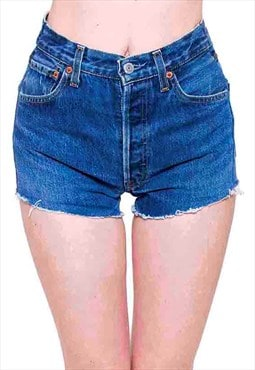Vintage Levis 501 High Waisted Denim Shorts