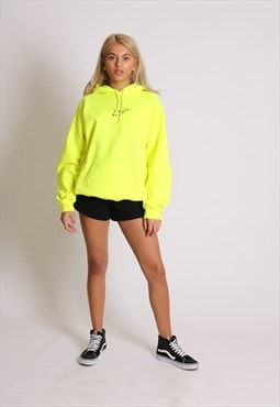 Essentials relaxed hoody in neon with signature logo