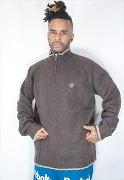 rare fila brown jumper