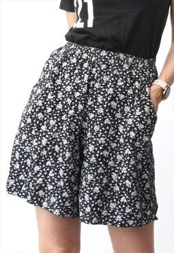 90s Bermuda Shorts Summer Baggy Shorts Floral Grunge Shorts