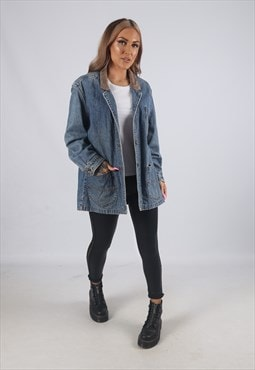 Vintage LEE Denim Jacket Oversized Blazer Longline 16 (C3B)