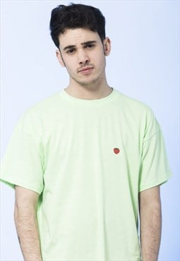 T-shirt Mint Green Strawberry Embroidered Men