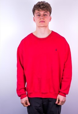 Vintage Ralph Lauren Sweatshirt in Red