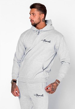 54 Floral Mini Core Hoody - Heather Grey