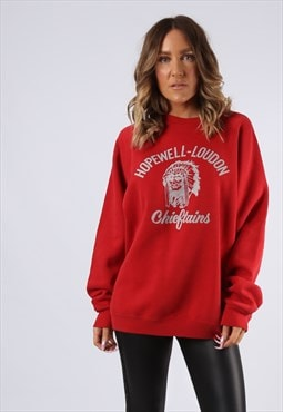 Sweatshirt Jumper CHIEFTAINS Oversized Print UK 18 (G9DU)