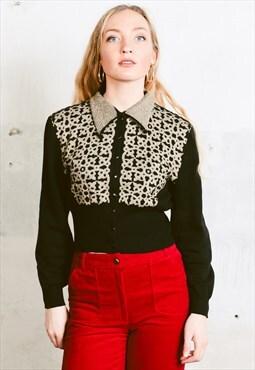 Vintage 80s Cropped Cardigan