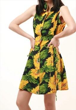 80s Vintage Mini Floral Dress 498