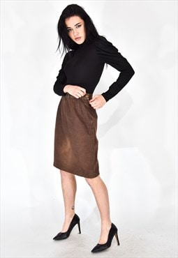 Fendi brown pencil skirt