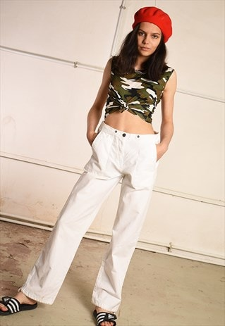 90'S RETRO REGULAR WAIST FESTIVAL STRAIGHT CARGO TROUSERS