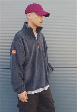 Quarter Zip Fleece Charcoal Grey