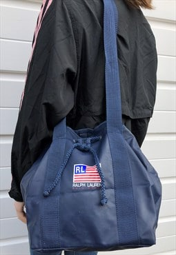 Womens Vintage Polo sport Ralph Lauren bag blue duffle