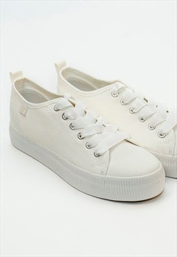Classic Chunky White Low-Neck Stylish Summer Sneakers