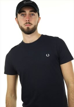 Vintage FRED PERRY T Shirt Navy
