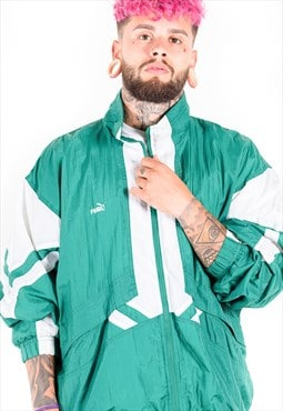 Vintage 80s Puma Windbreaker Jacket / S3695