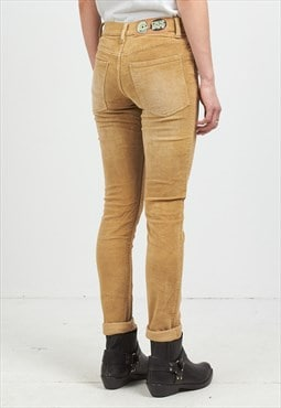 Vintage Brown CHEAP MONDAY Corduroy Trousers Bottoms