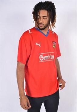 Vintage Puma Football Shirt Jersey Red