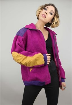 Vintage 90s Oversized Zip Up Fleece