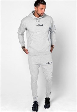 Centre Logo Pullover Hoody - Heather Grey