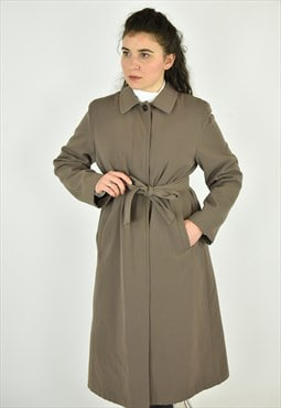 Vintage 90's Talbots Green Trench Coat Size 10