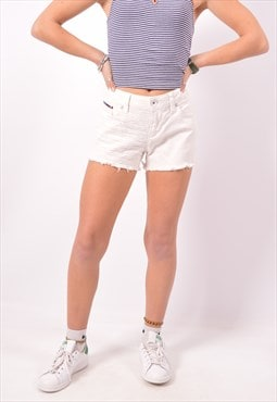 Vintage Tommy Hilfiger Denim Shorts White