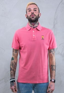 Vintage MARINA MILITARE Polo Shirt Pink A662