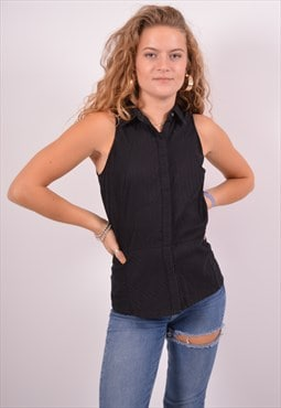 Vintage Dkny Shirt Sleeveless Black