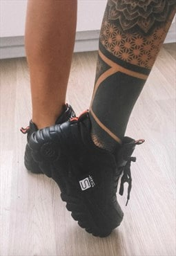Black Wedges Platform Sneakers