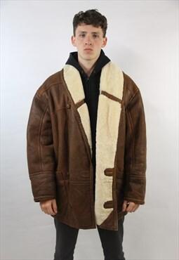 Vintage Amazing Sheepskin Brown Winter Coat