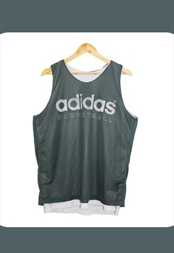 Vintage 90's Grey Adidas Reversible Basketball Jersey