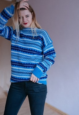 Vintage funky oversized wool jumper